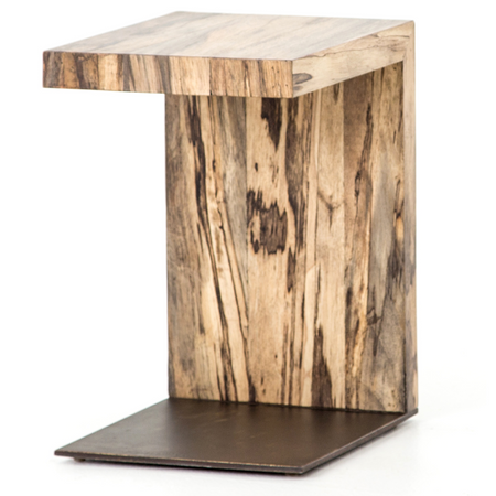 Hudson Spalted Primavera Wood And Iron C Table Zin Home