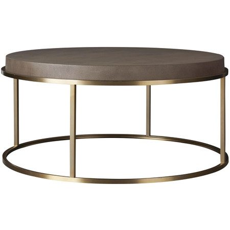 Portobello Modern Shagreen Round Coffee Table Gold Zin