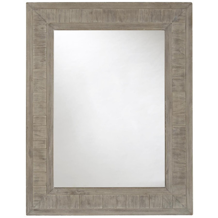 French Printer S Rustic Gray Wood Frame Mirror Zin Home