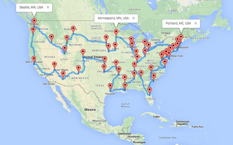 The Ultimate Motorcycle Road Trip Across The US The USA Trailer - Us map best roadtrip map