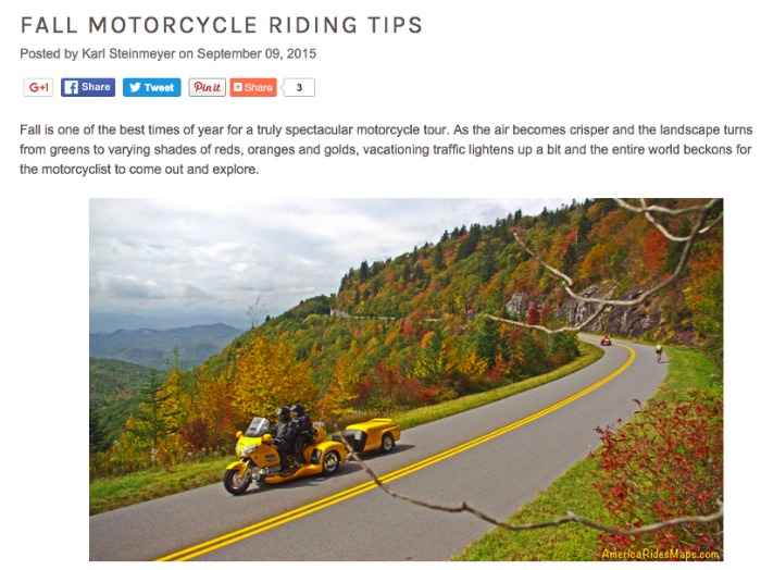 Best Fall Motorcycle Trips