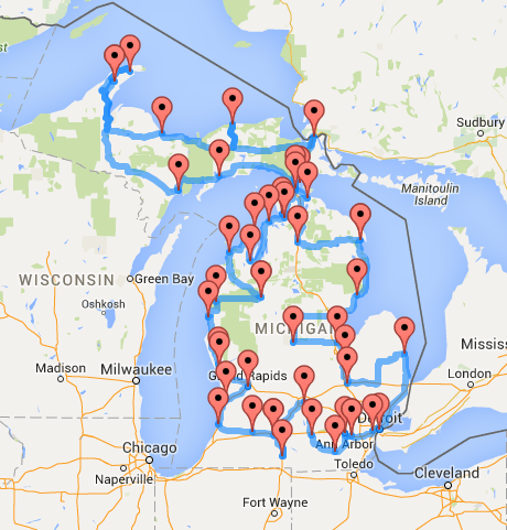The Ultimate Motorcycle Road Trip Across The US The USA Trailer Store - Driving map of michigan