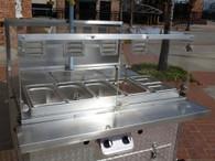 Hot Dog Cart Prep Shelf