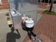 Cash Calf vending cart sink and propane tank