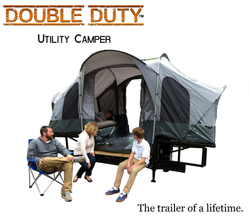 Double Duty Utility Motorcycle C&er Trailer  sc 1 st  The USA Trailer Store & Double Duty Utility u0026 Motorcycle Camper Trailer | The USA Trailer ...