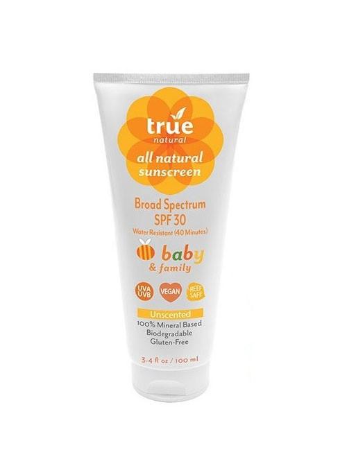 True Natural Baby & Family Sunscreen SPF30