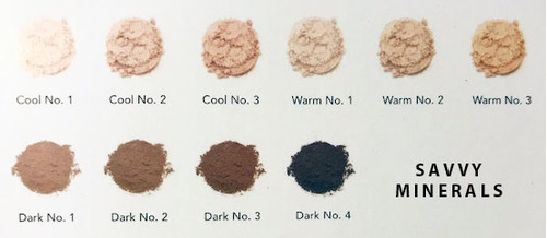 Savvy Minerals by Young Living Foundation Powder Chart