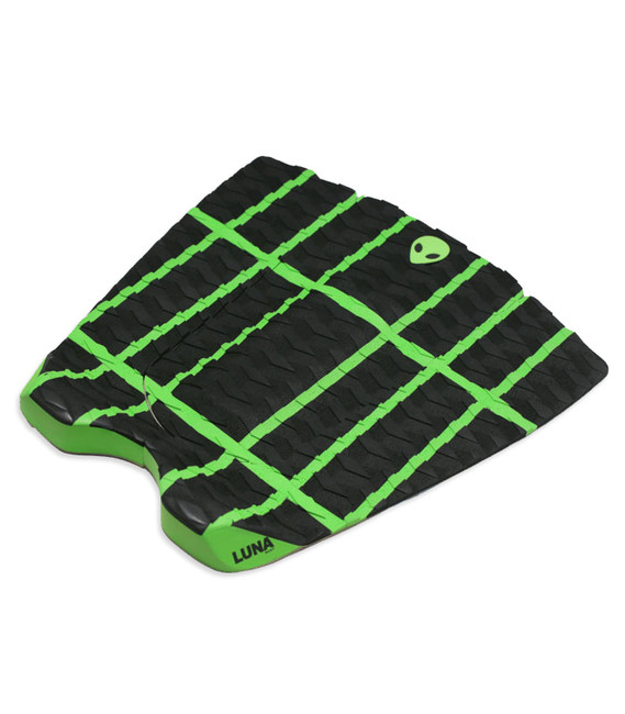 Lunasurf Surfboard Traction pad Black Green