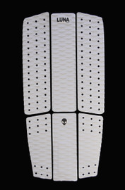 White front foot traction pad - Alien 6 piece full deck grip