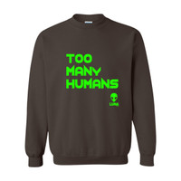 Too Many Humans Green Logo Sweatshirt