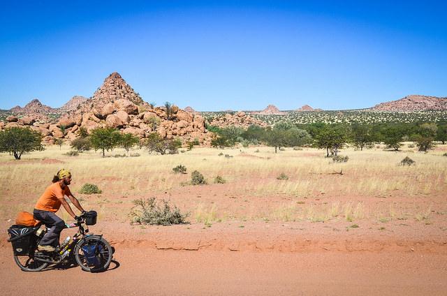 Cycling in Damaraland, Namibia