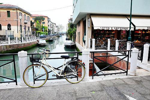 Biking in Lido de Venezia, Italy