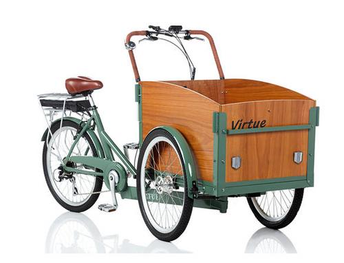 Virtue Electric Schoolbus + Cargo Box Bike   Atlantis Green 6