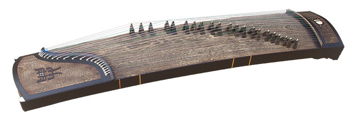 Premium Quality Whole Piece Digged Black Sandalwood Guzheng Instrument Chinese Zither Koto