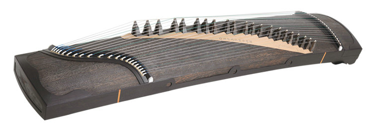 Premium Quality Whole Piece Digged Black Sandalwood Guzheng Instrument Chinese Zither Harp