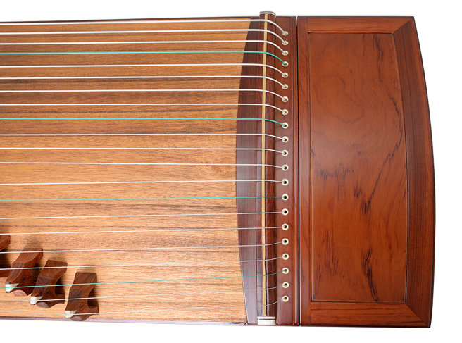 Professional Level Plain Surface Red Sandalwood Guzheng Instrument Chinese Zither