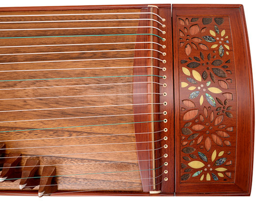 Professional Level Red Sandalwood Guzheng Instrument Chinese Zither Gu Zheng