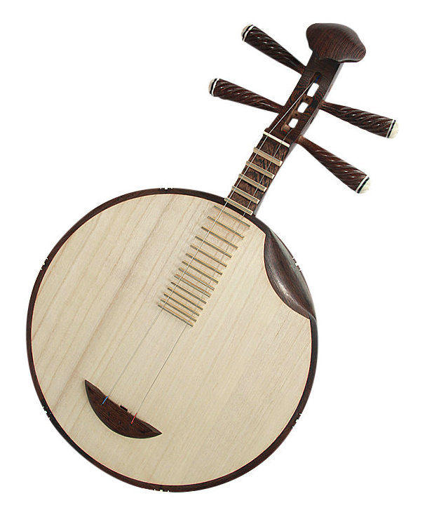 Professional Burmese Sandalwood Yueqin Chinese Moon Guitar