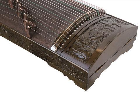 Professional Dragon Carved Nanmu Guzheng Instrument Chinese Zither Guzheng Zheng