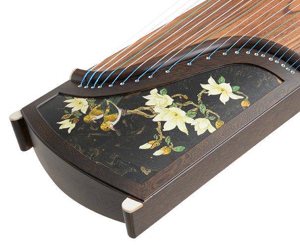 Professional Level Carved Wenge Wood Guzheng Instrument Chinese Koto