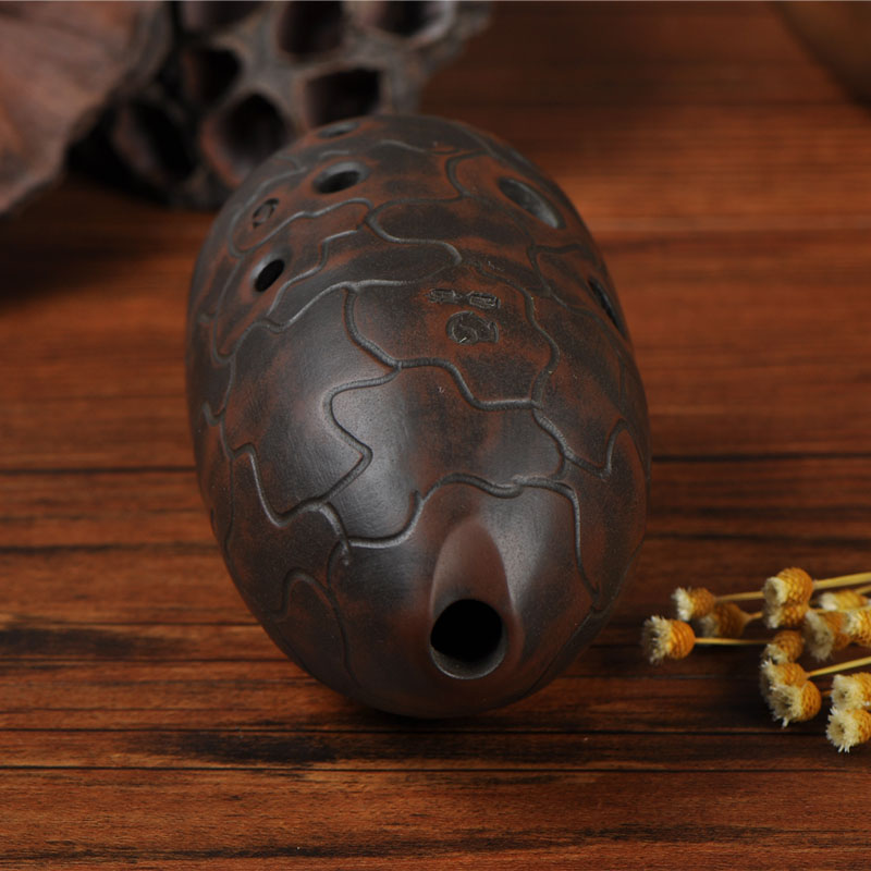 Quality Chinese Pottery Clay Flute Ancient Xun Instrument Ceramic Ocarina 8 Holes
