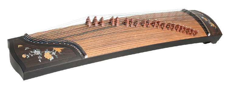 Concert Grade Black Sandalwood Guzheng Instrument Chinese Zither Harp