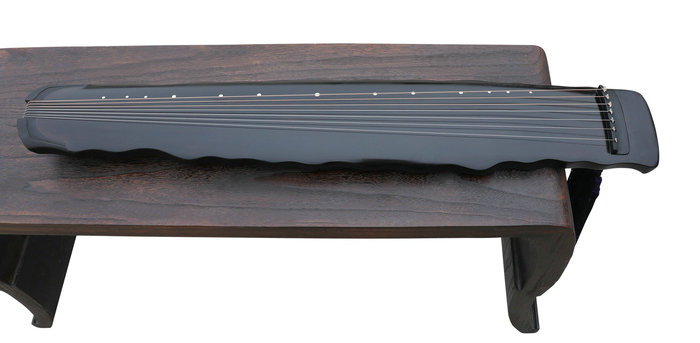 Concert Grade Aged Fir Wood Guqin Chinese 7 Stringed Zither Luo Xia Style