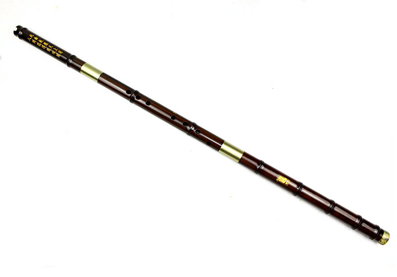 Master Made Chinese Aged Sandalwood Flute Xiao Instrument 3 Sections With Case
