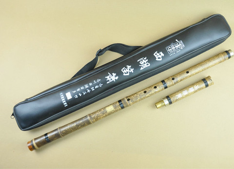 Master Made Purple Bamboo Flute Xiao Instrument Chinese Shakuhachi 2 Sections