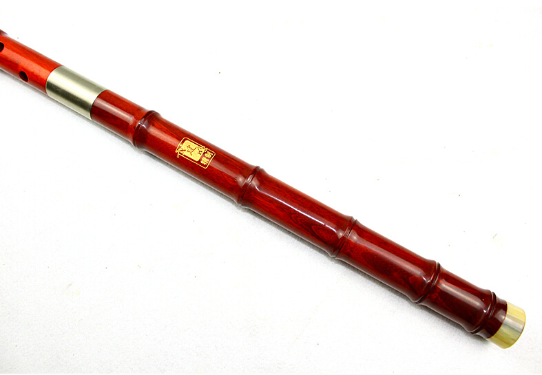 Concert Level Purple Sandalwood Flute Xiao Instrument Chinese Shakuhachi 3 Sections