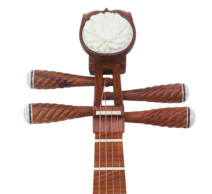 Premium Quality Sandalwood Pipa Instrument Chinese Lute With Accessories