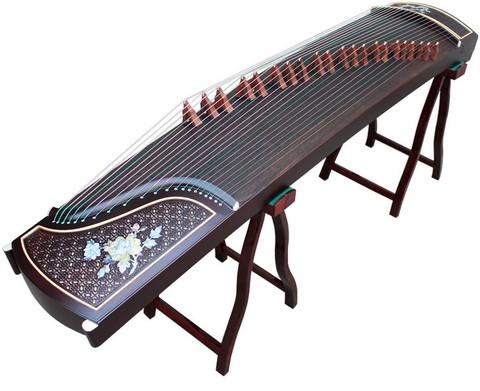Professional Carved Purple Sandalwood Guzheng Instrument Chinese Koto