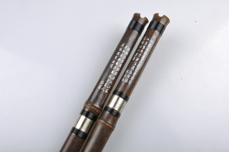 Study Level Purple Bamboo Flute Xiao Instrument Chinese Shakuhachi 2 Sections
