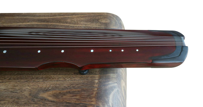 Buy Premium Quality Aged Fir Wood Guqin Instrument Chinese 7 String Zither Ling Ji Style