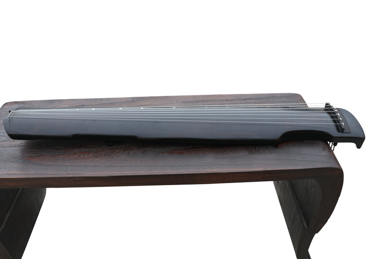 Concert Grade Aged Fir Wood Guqin Chinese 7 Stringed Zither Zhong Ni Style