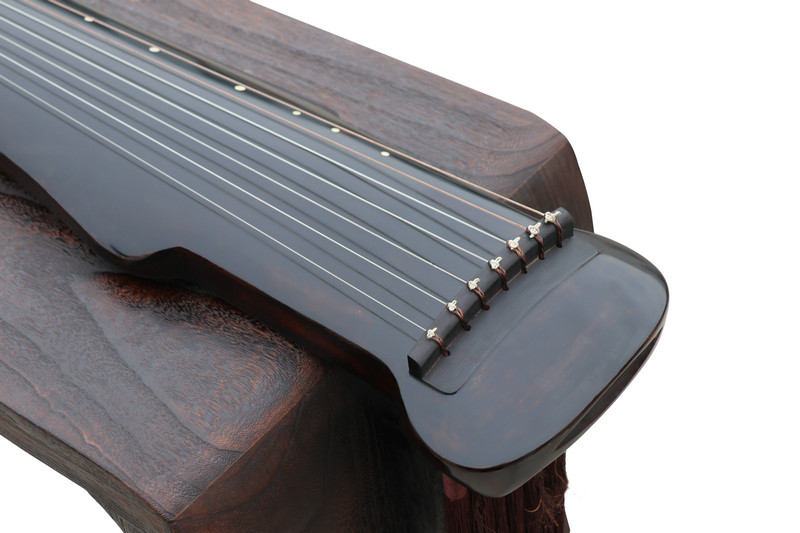 Concert Grade Aged Fir Wood Guqin Chinese 7 Stringed Zither He Ming Qiu Yue Style