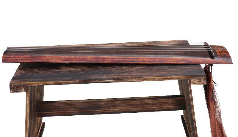 Professional Aged Fir Wood Guqin Instrument Chinese 7 String Zither Ku Mu Long Yin Style