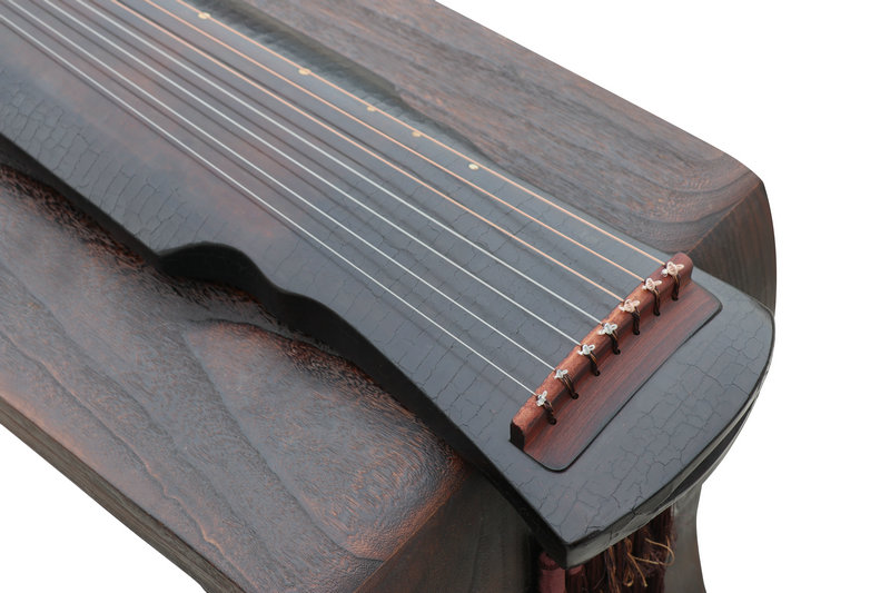 Concert Grade Aged Fir Wood Guqin Instrument Chinese 7 String Zither Ling Ji Style