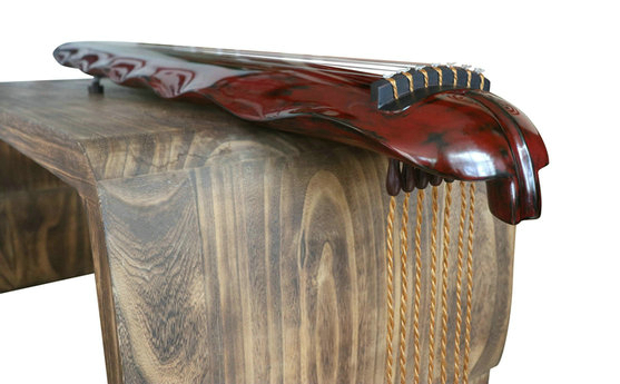 Buy Premium Quality Aged Fir Wood Guqin Instrument Chinese 7 String Zither Banana Leaf Style
