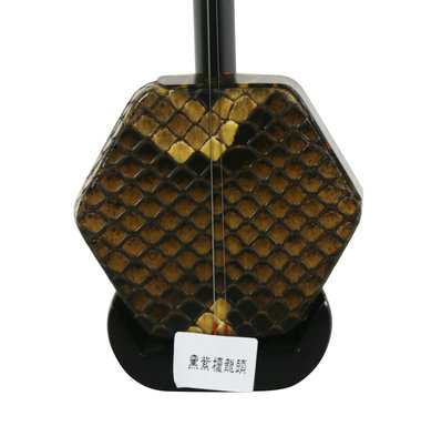 Concert Level Black Sandalwood Erhu Instrument Chinese Voilin Fiddle With Accessories