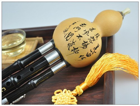 Concert Level Chinese Gourd Flute Yunnan Black Sandalwood Hulusi Instrument