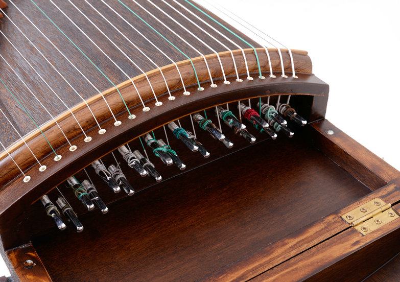 Exquisite Travel Size Paulownia Guzheng Instrument Chinese Zither Tang Style