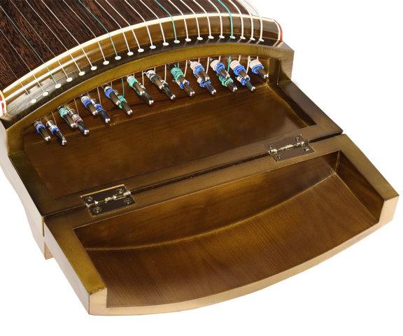 Exquisite Travel Size Black Sandalwood Guzheng Instrument Chinese Zither Harp