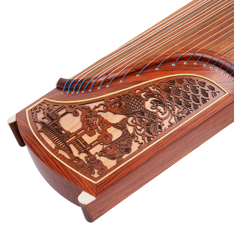Professional Level Red Sandalwood Guzheng Instrument Chinese Koto