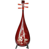 Buy Professional Shell Carved Sandalwood Pipa Instrument Chinese Lute W/ Accessories