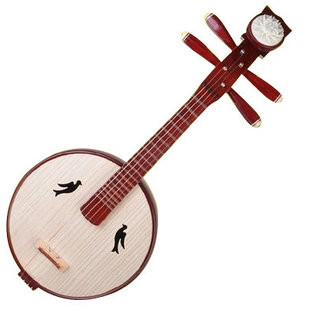 buy high quality xiao ruan instrument chinese moon guitar ruan with accessories. Black Bedroom Furniture Sets. Home Design Ideas