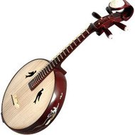 Kaufen Acheter Achat Kopen Buy Professional Carved Zhongruan Chinese Mandolin Ruan W/ Accessories