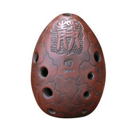 Buy Professional Chinese Clay Flute Ancient Xun Instrument Egg Pattern Ocarina 10 Holes