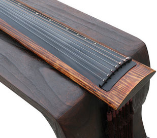 Buy Concert Grade Aged Fir Wood Guqin Chinese 7 Stringed Zither Ku Mu long Yin Style
