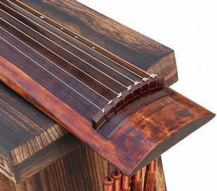 Buy Professional Aged Fir Wood Guqin Instrument Chinese 7 String Zither Ku Mu Long Yin Style